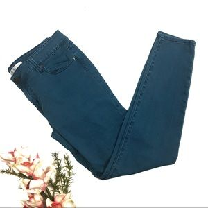 CAbi Size 8 Teal Skinny Jeans